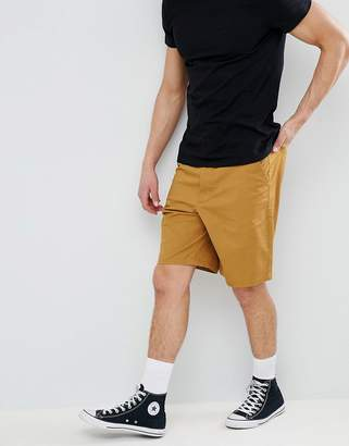 Asos Design DESIGN Skater Chino Shorts In Mustard