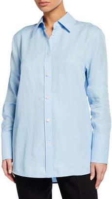 Helmut Lang Button-Down Long-Sleeve Viscose Shirt