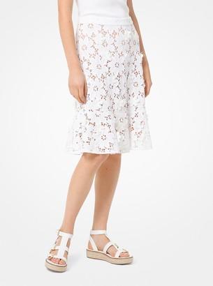 MICHAEL Michael Kors Floral Applique Lace Skirt