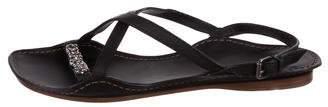 Bottega Veneta Leather Chain-Embellished Sandals
