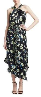 Derek Lam 10 Crosby Asymmetric Wrap Floral Dress