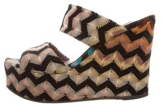 Missoni Chevron Wedge Sandals