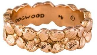 Helen Ficalora 14K Dogwood Flower Ring