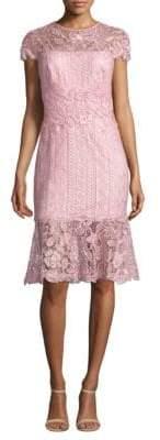 Tadashi Shoji Short Sleeve Lace Dress