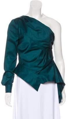 Petersyn Asymmetrical One-Shoulder Blouse w/ Tags