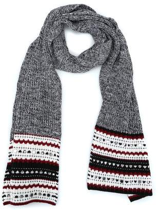 Dondup Small Mirrors Embellished Wool Blend Scarf