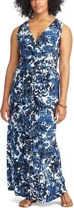 Chaps Plus Size Vine Empire Maxi Dress