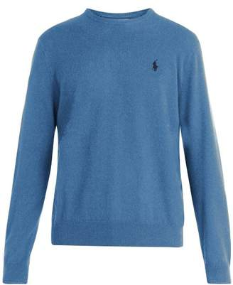 Polo Ralph Lauren Logo Embroidered Wool Sweater - Mens - Blue