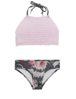 Zimmermann Iris Crochet Halter Bikini