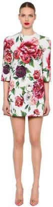 Dolce & Gabbana Floral Printed Cady Mini Dress