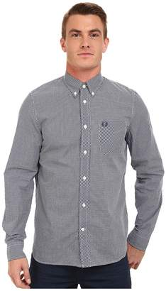 Fred Perry Long Sleeve Classic Gingham Shirt Men's Clothing