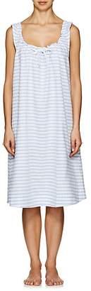 The Sleep Shirt Women's Striped Linen-Cotton Nightgown