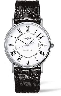 Longines Presence Automatic Leather Strap Watch, 38.5mm