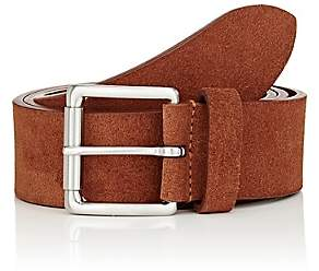 Barneys New York MEN'S SUEDE BELT-TAN SIZE 32