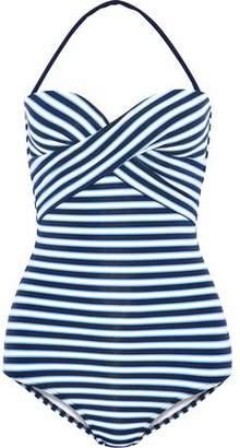Jets Australia By Jessika Allen Twist-Front Striped Bandeau Swimsuit