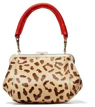 Clare Vivier Le Box Bag in Leopard Print Calf Hair