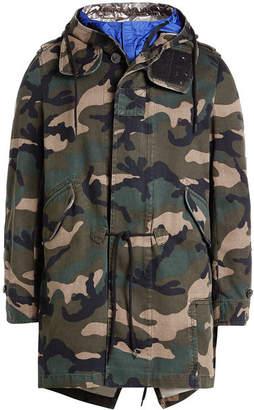 Valentino Tech Hood Camouflage Cotton Parka