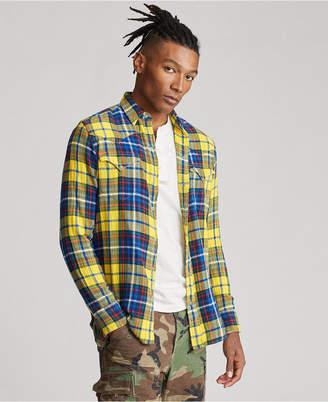 Polo Ralph Lauren Men Cotton Twill Western Plaid Shirt
