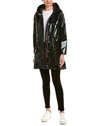 Urban Republic Women's Patent Leather Vinyl Amorak Rain Jacket