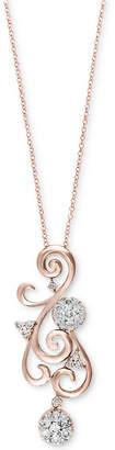 Effy Diamond Swirl Pendant Necklace (5/8 ct. t.w.) in 14k Gold or Rose Gold