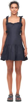 Rebecca Taylor Crisp Cotton Cut-Out Dress
