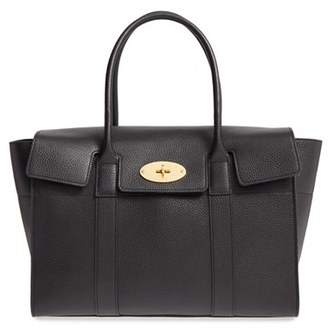 Mulberry 'New Bayswater' Grained Leather Satchel - Black $1,300 thestylecure.com