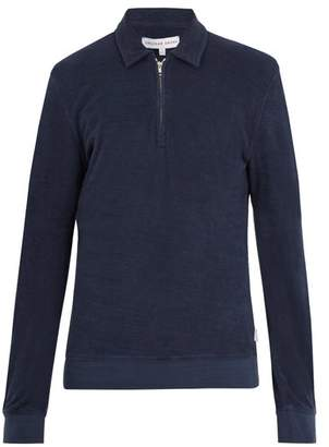 Orlebar Brown Ritson French Terry Towelling Top - Mens - Navy