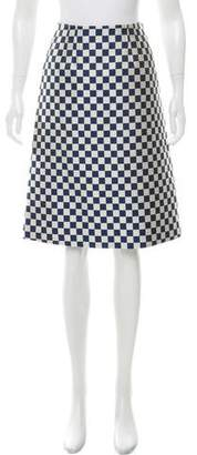 Marc by Marc Jacobs Checkered Midi Skirt