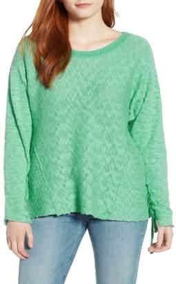 Caslon Mix Stitch Swing Cotton Sweater
