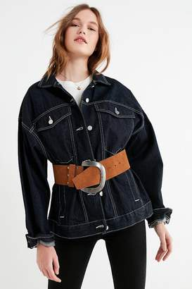 Urban Outfitters Mega-Wide Suede Belt