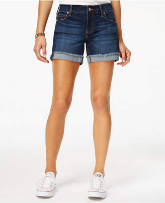 "Celebrity Pink Juniors' 5"" Cuffed Denim Shorts"