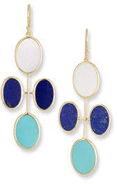 Ippolita 18K Polished Rock Candy Elongated Oval Clover Earrings in Viareggio