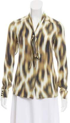 Rachel Zoe Silk Long Sleeve Blouse