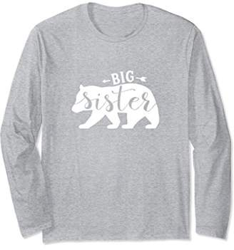 Big Sister Bear T-shirt Matching Sibling Family Bear Shirts