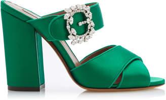 Tabitha Simmons Reyner Embellished Satin Sandals