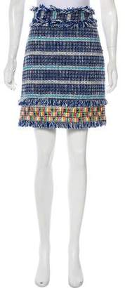 Tory Burch Textured Knee-Length Skirt