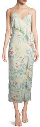Tularosa Emily Floral-Print Maxi Wrap Dress