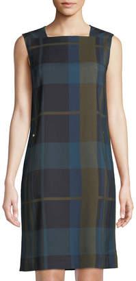 Lafayette 148 New York Zandra Plaid Sheath Dress