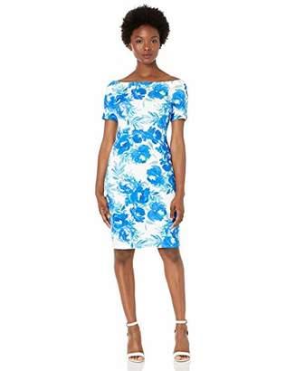 Calvin Klein Women's Petite Short Sleeve Off The Shoulder Sheath Dress