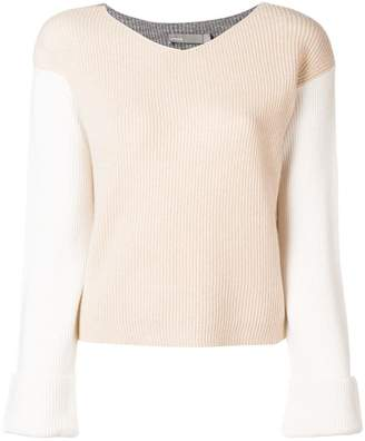 Vince contrast ribbed sweater