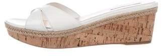 Prada Sport Patent Wedge Sandals