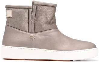 Santoni fur lining boots