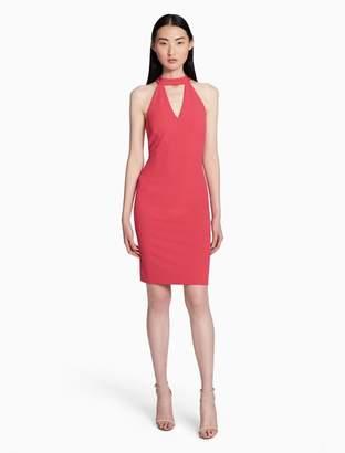 Calvin Klein v-neck choker sheath dress