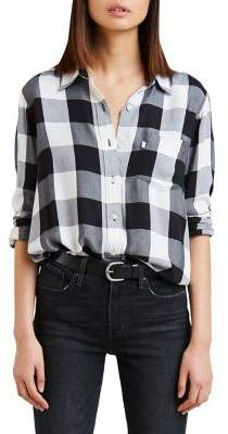 Levi's Premium Ultimate Boyfriend Gingham Twill Button-Down Shirt