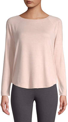ST. JOHN'S BAY SJB ACTIVE Active- Womens Super Soft Round Neck Long Sleeve T-Shirt - Tall