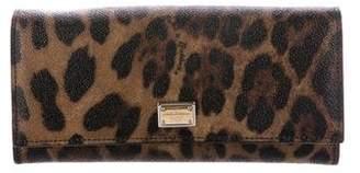 Dolce & Gabbana Leopard Print Flap Wallet