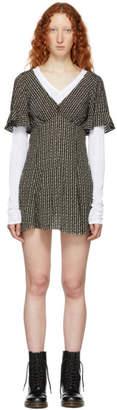 Marc Jacobs Brown and Beige Redux Grunge Mini Dress