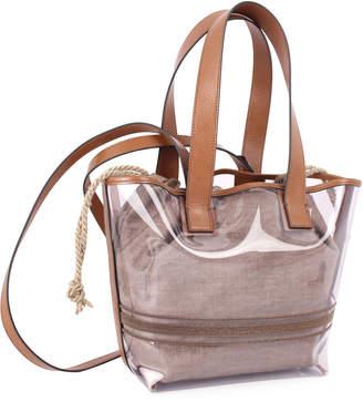 Brunello Cucinelli See-Through Shoulder Tote Bag