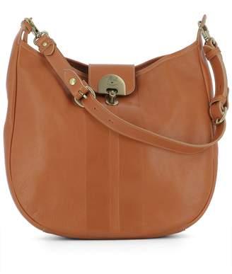 Il Bisonte Orange Leather Handle Bag