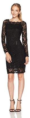 Tiana B Women's Scallop Neck Sequin Lace Dress Petite